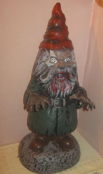 Evil Travelocity Gnome Zombie Garden Gnome Halloween Prop